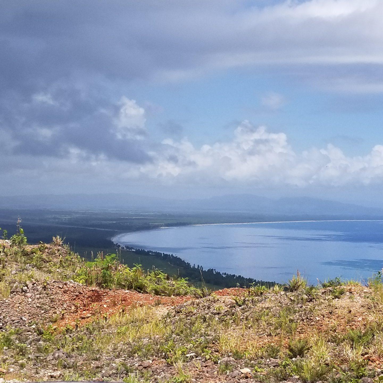 El paisaje al acantilado